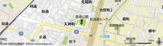 愛知県豊川市天神町周辺の地図