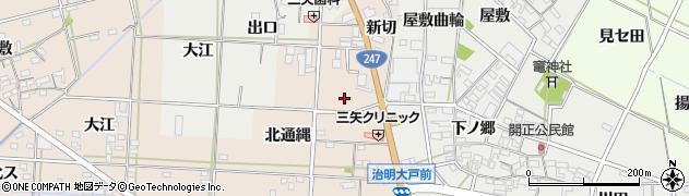 愛知県西尾市一色町治明(本地)周辺の地図
