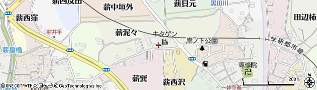 京都府京田辺市薪泥々周辺の地図
