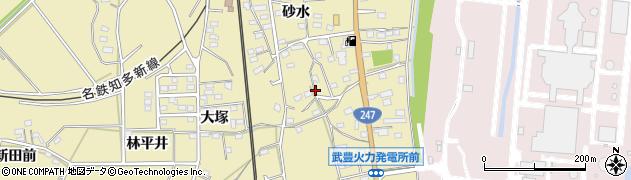 愛知県武豊町(知多郡)冨貴(砂水)周辺の地図
