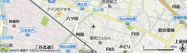 愛知県蒲郡市豊岡町(薮田)周辺の地図