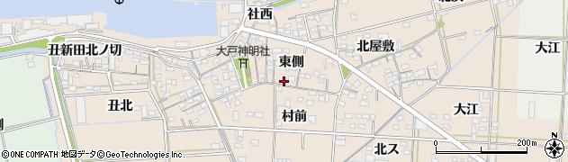 愛知県西尾市一色町治明周辺の地図