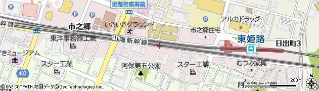 兵庫県姫路市市之郷周辺の地図