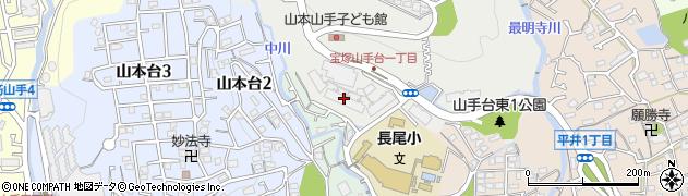 ジオグランデ宝塚山手台周辺の地図
