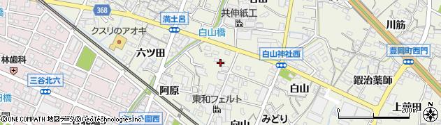 愛知県蒲郡市豊岡町(畑ケ田)周辺の地図