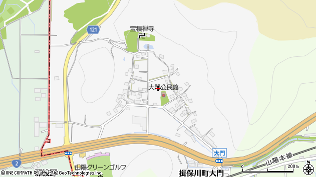 〒671-1642 兵庫県たつの市揖保川町大門の地図