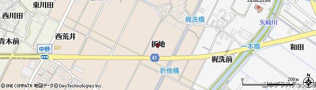 愛知県西尾市吉良町中野(折地)周辺の地図