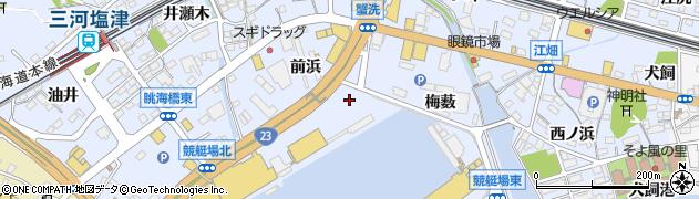 愛知県蒲郡市竹谷町(太田新田)周辺の地図