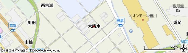 愛知県豊川市白鳥町(大清水)周辺の地図