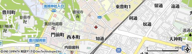 愛知県豊川市豊川仲町周辺の地図