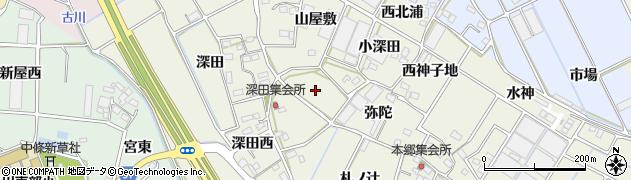 愛知県豊川市三上町(桑ノ木)周辺の地図