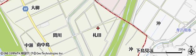 愛知県豊川市三上町(札田)周辺の地図