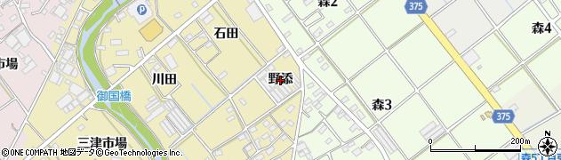 愛知県豊川市為当町(野添)周辺の地図