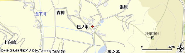 愛知県豊橋市石巻平野町(巳ノ甲)周辺の地図