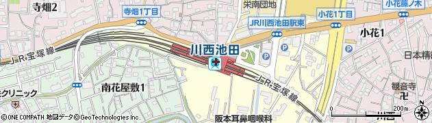 兵庫県川西市周辺の地図