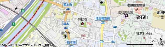 託明寺周辺の地図
