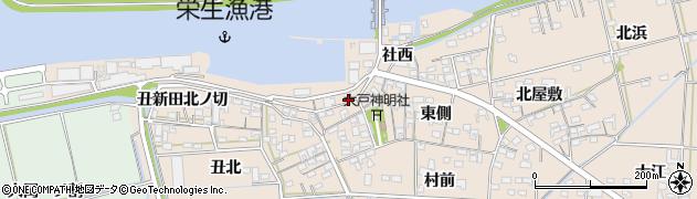 愛知県西尾市一色町治明(西側堤防官地拝借無)周辺の地図
