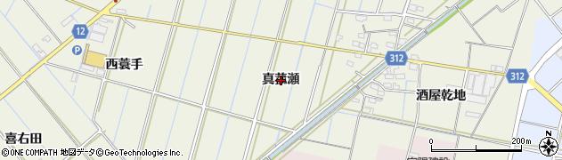 愛知県西尾市市子町(真菰瀬)周辺の地図