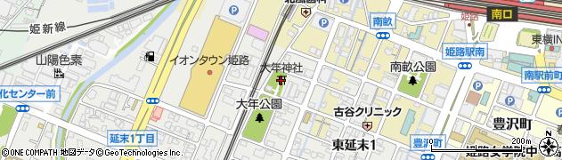 大年神社周辺の地図