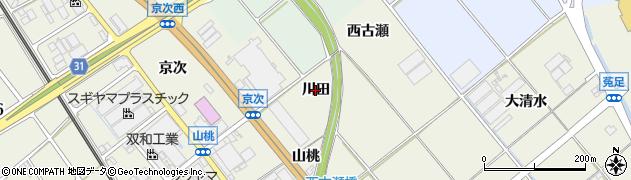 愛知県豊川市白鳥町(川田)周辺の地図