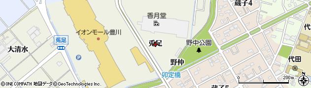 愛知県豊川市白鳥町(兎足)周辺の地図