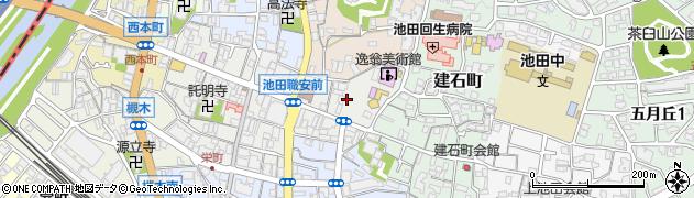 大阪府池田市栄本町12周辺の地図