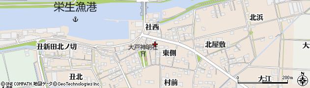 愛知県西尾市一色町治明(西側)周辺の地図