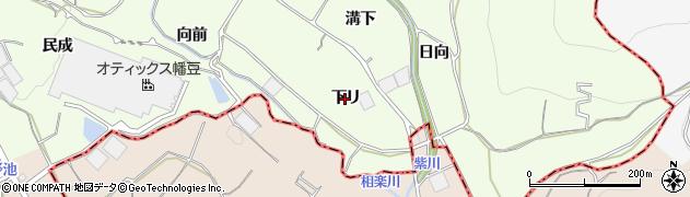 愛知県蒲郡市相楽町(下リ)周辺の地図
