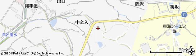 愛知県豊橋市石巻小野田町(中之入)周辺の地図