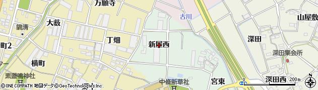 愛知県豊川市三谷原町(新屋西)周辺の地図