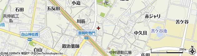 愛知県蒲郡市豊岡町(西門)周辺の地図