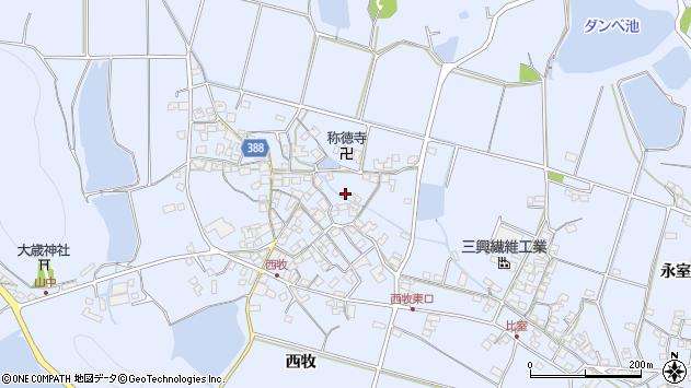 〒675-0331 兵庫県加古川市志方町西牧の地図