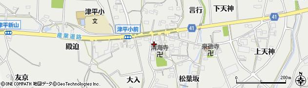 招福周辺の地図