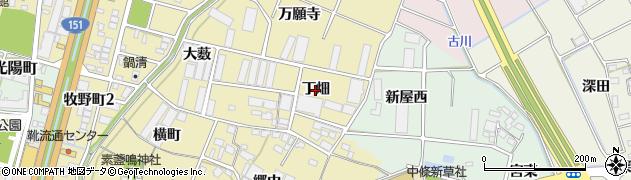 愛知県豊川市牧野町(丁畑)周辺の地図