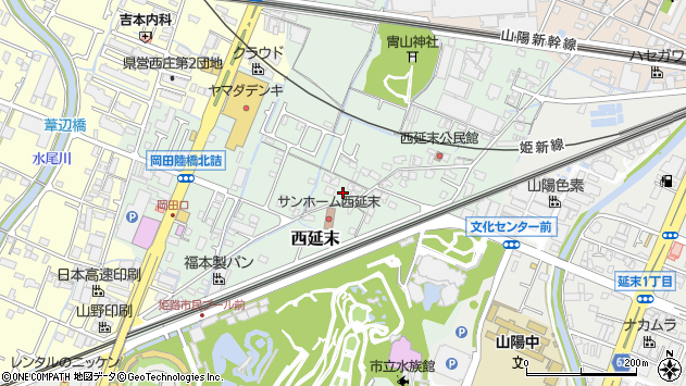 〒670-0971 兵庫県姫路市西延末の地図