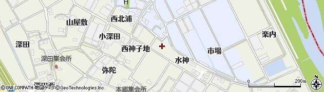 愛知県豊川市三上町(東北浦)周辺の地図