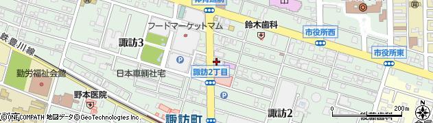 赤と白豊川店周辺の地図
