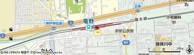 兵庫県たつの市周辺の地図