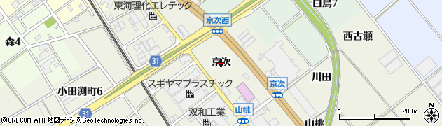 愛知県豊川市白鳥町(京次)周辺の地図
