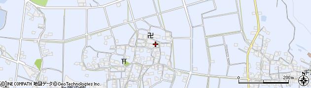 兵庫県加古川市志方町(西中)周辺の地図