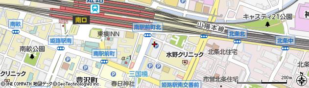 兵庫県姫路市南駅前町周辺の地図