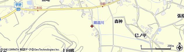 愛知県豊橋市石巻平野町(上向嶋)周辺の地図