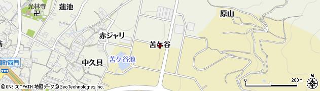 愛知県蒲郡市三谷町(苦ケ谷)周辺の地図