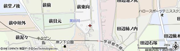 京都府京田辺市薪東向周辺の地図