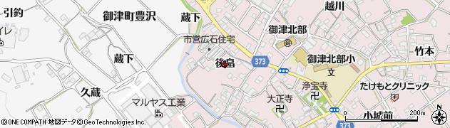 愛知県豊川市御津町広石(後畠)周辺の地図