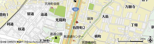 愛知県豊川市牧野町(成田)周辺の地図