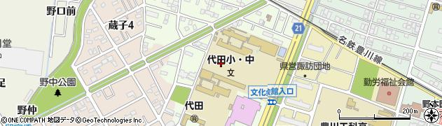 愛知県豊川市代田町周辺の地図