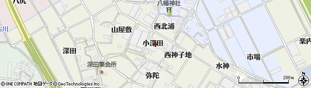 愛知県豊川市三上町(小深田)周辺の地図