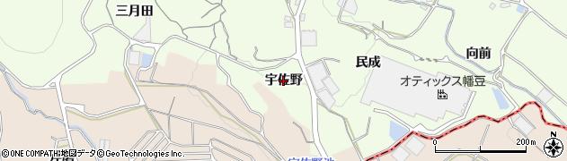 愛知県蒲郡市相楽町(宇佐野)周辺の地図