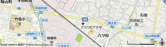愛知県蒲郡市豊岡町(前野)周辺の地図